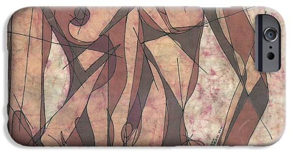 Nudes Tapestries - Textiles iPhone Cases - Geometry Problems iPhone Case by Kevin Houchin