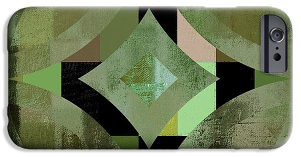 Geometric Shape iPhone Cases - Geomix 12 - 01gbl3j4994100 iPhone Case by Variance Collections