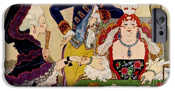 Georges Barbier iPhone Cases - George Barbier. Palm Reader iPhone Case by Pierpont Bay Archives