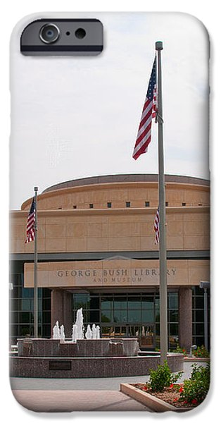 George Bush Presidential Library iPhone Case by Mae Wertz