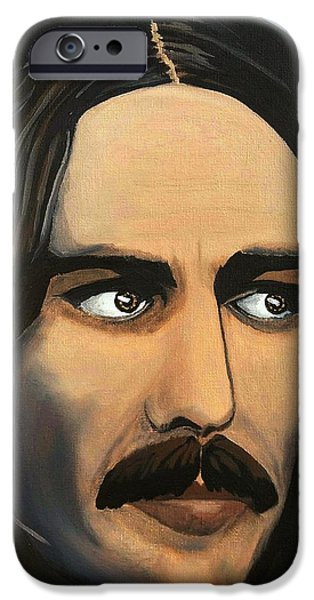 Beatles iPhone Cases - George Harrison The Mystic iPhone Case by Edward Pebworth