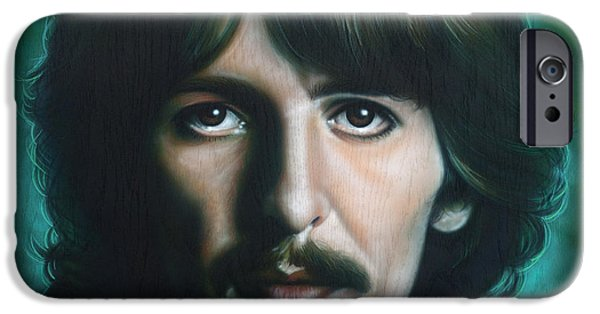 Beatles iPhone Cases - George Harrison iPhone Case by Tim  Scoggins