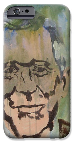 George Bush iPhone Cases - George in Acrylic  iPhone Case by John  Bichler