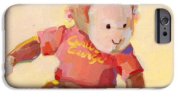 Stuffed Animal iPhone Cases - George iPhone Case by Kimberly Santini