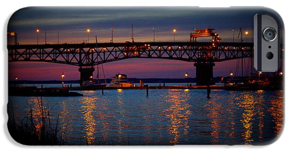 Yorktown Virginia iPhone Cases - George P Coleman Memorial Bridge iPhone Case by Shannon Louder