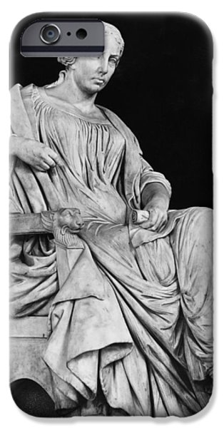 Statue Portrait Photographs iPhone Cases - George Sand iPhone Case by Jean Baptiste Auguste Clesinger