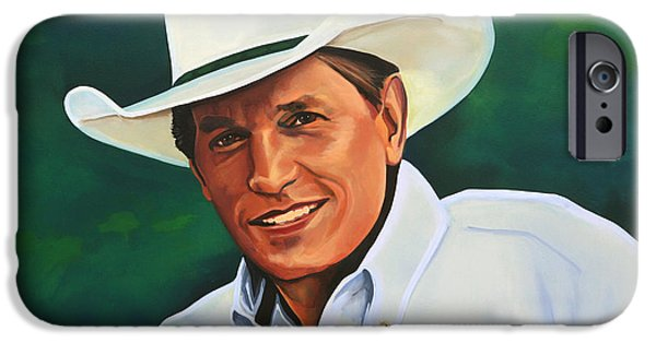 Hat iPhone Cases - George Strait iPhone Case by Paul  Meijering