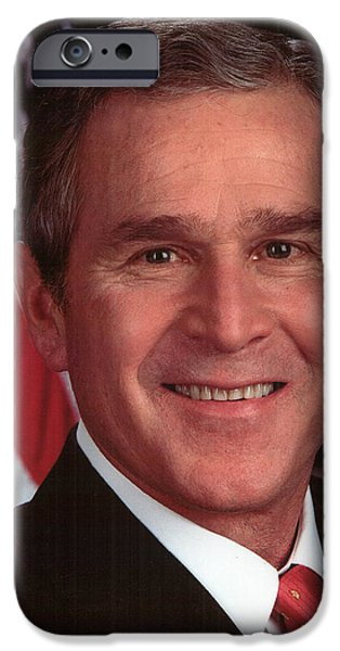 George Bush iPhone Cases - George W Bush iPhone Case by Official Gov Files