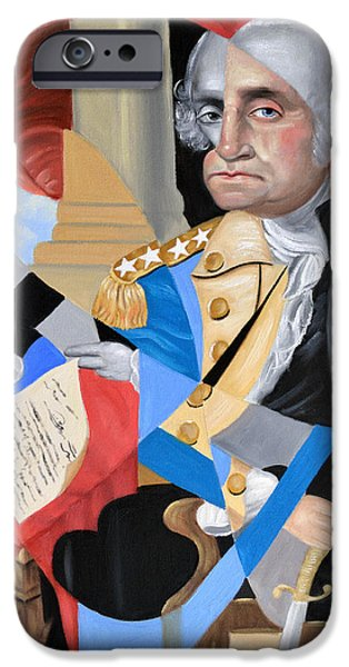 Constitution iPhone Cases - George Washington iPhone Case by Anthony Falbo