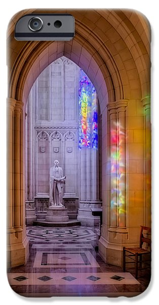 D.c. iPhone Cases - George Washington Bay At The Washington Cathedral iPhone Case by Susan Candelario