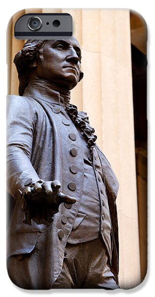 Inauguration iPhone Cases - George Washington iPhone Case by Brian Jannsen