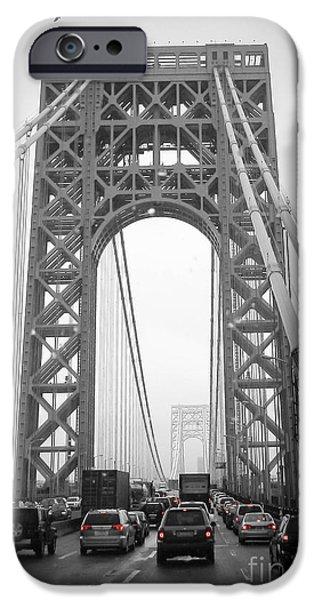 Newengland iPhone Cases - George Washington Bridge iPhone Case by Andrea Anderegg