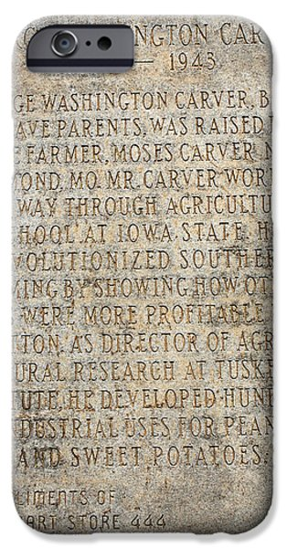 African-american Institute iPhone Cases - George Washington Carver Marker iPhone Case by Lena Wilhite