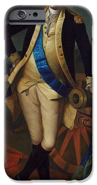 Strong America iPhone Cases - George Washington iPhone Case by Charles Wilson Peale