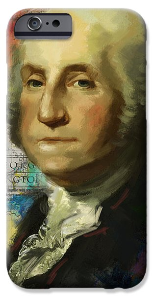 President iPhone Cases - George Washington iPhone Case by Corporate Art Task Force