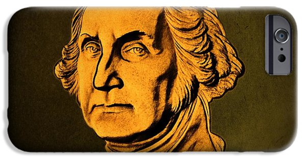 Constitution iPhone Cases - George Washington iPhone Case by David Dehner