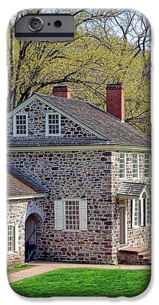 George Washington Headquarters at Valley Forge iPhone Case by Olivier Le Queinec