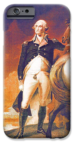 American Revolution iPhone Cases - George Washingtons Got it Going on iPhone Case by Del Gaizo