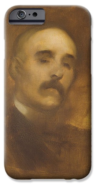 Politician iPhone Cases - Georges Clemenceau 1841-1929 Oil On Canvas iPhone Case by Eugene Carriere