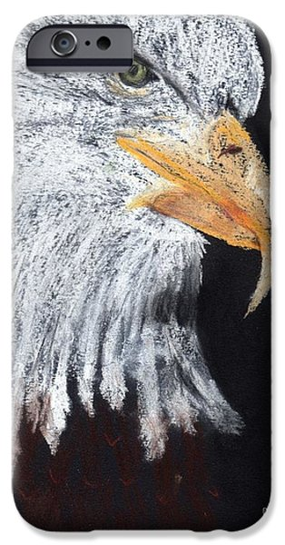 American Eagle Pastels iPhone Cases - Georges Eagle iPhone Case by Carol Lindquist