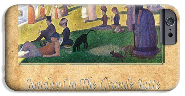 Seurat iPhone Cases - Georges Seurat 2 iPhone Case by Andrew Fare