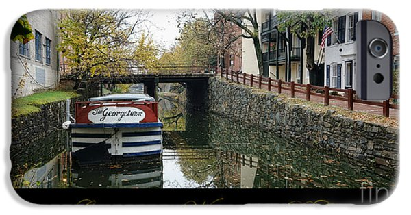 Replica iPhone Cases - Georgetown Canal Poster iPhone Case by Olivier Le Queinec