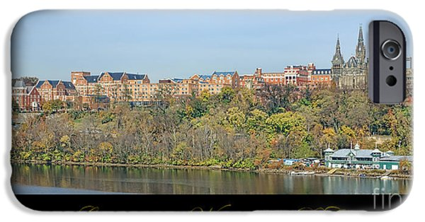 River View iPhone Cases - Georgetown Poster iPhone Case by Olivier Le Queinec