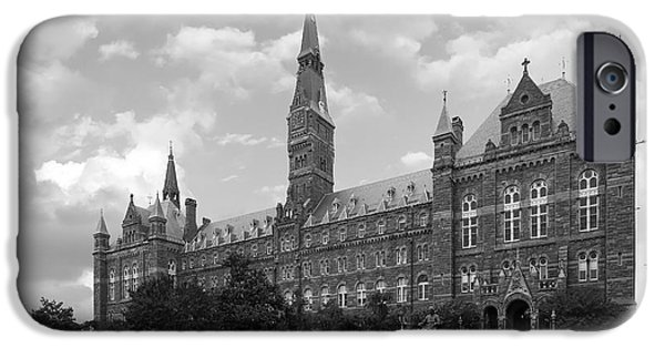 Campuses iPhone Cases - Georgetown University Healy Hall iPhone Case by University Icons