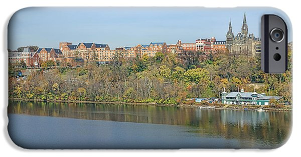 D.c. iPhone Cases - Georgetown University Neighborhood iPhone Case by Olivier Le Queinec