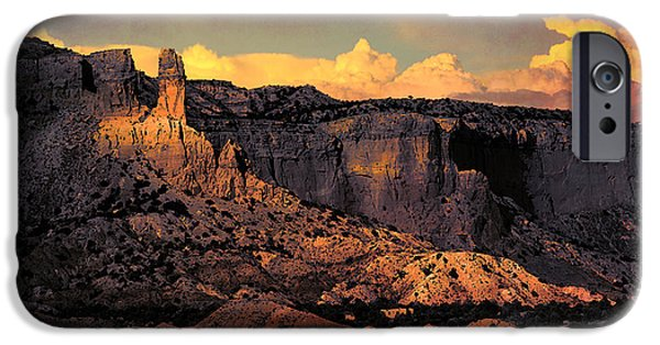 Painter Photographs iPhone Cases - Georgia O Keefes Ghost Ranch House - Last Moments of Sun iPhone Case by Douglas MooreZart