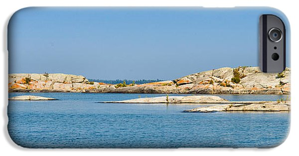 Red Rock iPhone Cases - Georgian Bay Islands iPhone Case by Les Palenik