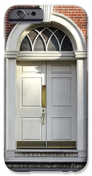 Historic Architecture iPhone Cases - Georgian Door iPhone Case by Olivier Le Queinec