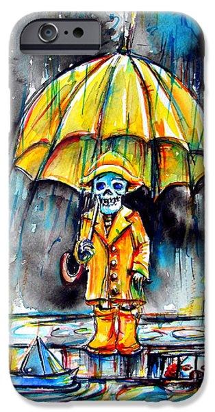 Rainy Day iPhone Cases - Georgie iPhone Case by Heather Calderon