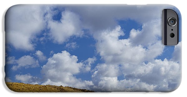 Field. Cloud iPhone Cases - Geothermal Field, Iceland iPhone Case by John Shaw
