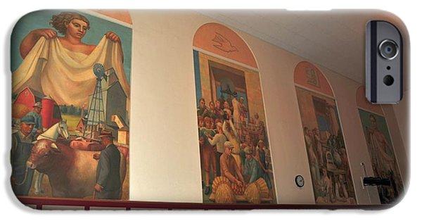 Clare Michigan iPhone Cases - Gerald Mast Murals in Clare Michigan iPhone Case by Terri Gostola