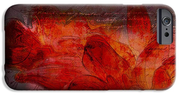 Abstract Realism iPhone Cases - Gerberie - 77at2 iPhone Case by Variance Collections