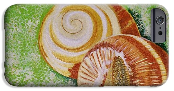 Paiting iPhone Cases - Germ of snail iPhone Case by Bozena Simeth
