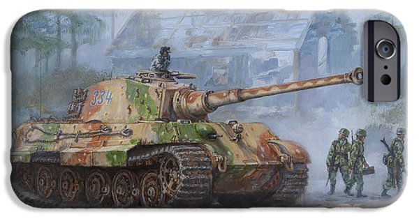 Recently Sold -  - The Tiger iPhone Cases - German King Tiger tank in the Battle of the Bulge iPhone Case by Philip Arena