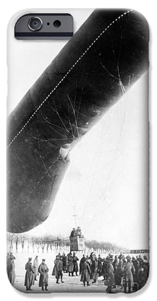Ww1 iPhone Cases - German Observation Balloon, World War I iPhone Case by Library Of Congress