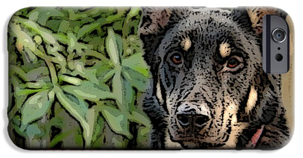 Home iPhone Cases - German Shepard iPhone Case by Marvin Blaine
