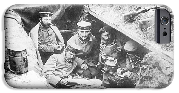World War One iPhone Cases - German Trenches, World War I iPhone Case by Library Of Congress