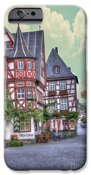 Recently Sold -  - River iPhone Cases - German Village along Rhine River iPhone Case by Juli Scalzi