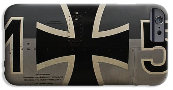Machinery iPhone Cases - German war plane iPhone Case by Joseph Semary