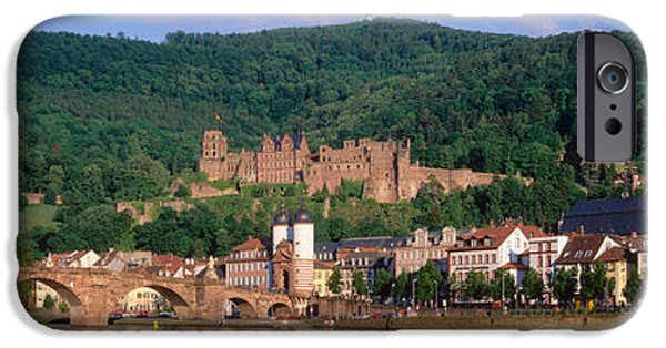 Recently Sold -  - Ruin iPhone Cases - Germany, Heidelberg, Neckar River iPhone Case by Panoramic Images