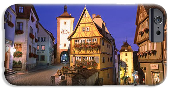 Park Scene iPhone Cases - Germany, Rothenburg Ob Der Tauber iPhone Case by Panoramic Images