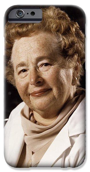Biochemist iPhone Cases - Gertrude Elion, American Biochemist iPhone Case by Wellcome Images