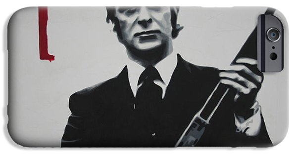 Big Screen iPhone Cases - Get Carter 2013 iPhone Case by Luis Ludzska
