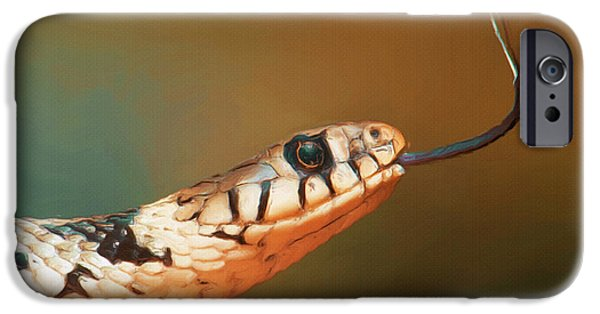 Reptiles iPhone Cases - Get Over Here iPhone Case by Ayse Deniz