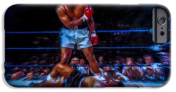 Olympic Gold Medalist iPhone Cases - Get up and Fight Sucker iPhone Case by Brian Reaves