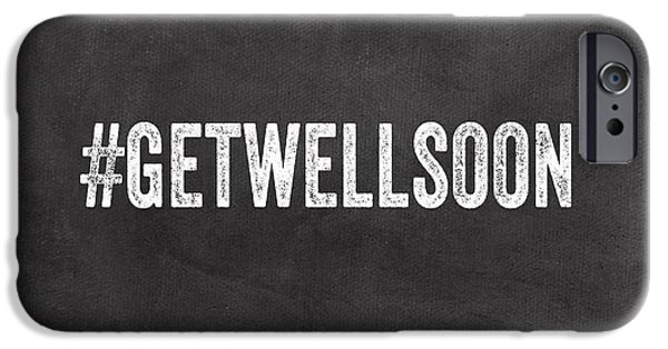 Employee iPhone Cases - Get Well Soon - Greeting Card iPhone Case by Linda Woods